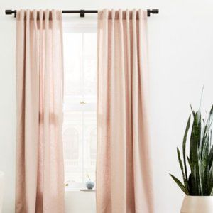 👉West Elm Belgian Flax Linen Curtain - Adobe Rose